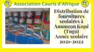 Distribution de kits scolaires 25 septembre 2021